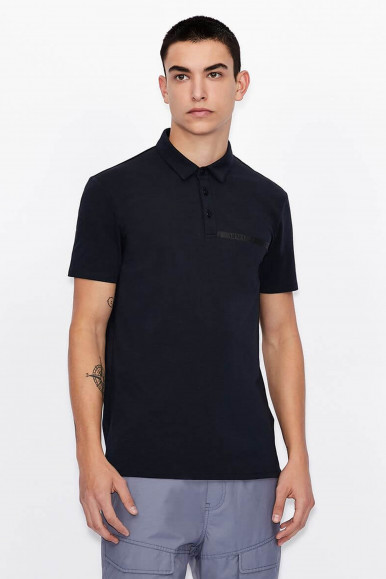 POLO UOMO ARMANI EXCHANGE BLU 3KZFHA
