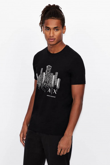T-SHIRT UOMO ARMANI EXCHANGE NERO 3KZTFJ