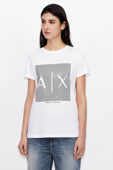 T-SHIRT DONNA ARMANI EXCHANGE BIANCO 3KYTKE