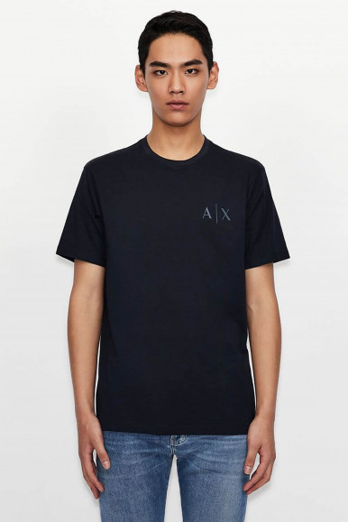 T-SHIRT UOMO ARMANI EXCHANGE BLU 3KZTGB