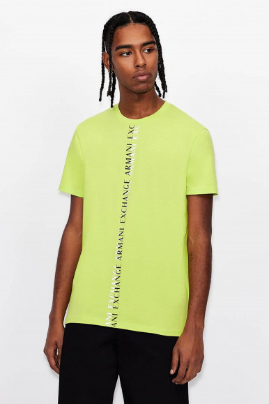 T-SHIRT UOMO ARMANI EXCHANGE LIME 3KZTFL