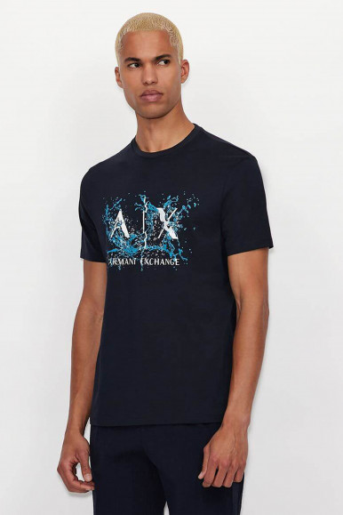 T-SHIRT UOMO ARMANI EXCHANGE BLU 3KZTGY