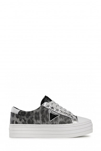 SNEAKERS GUESS DONNA BRODEY GRIGIO LEOPARDATO