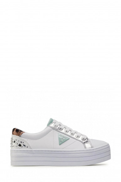 SNEAKERS DONNA GUESS BRODEY 3 BIANCO / ARGENTO