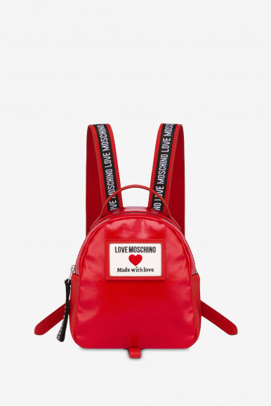 LOVE MOSCHINO ZAINO CANVAS 4032 ROSSO