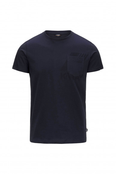 T-SHIRT UOMO K-WAY ROS BLU