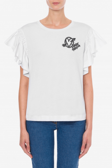 LOVE MOSCHINO T-SHIRT BIANCO W4H41-01