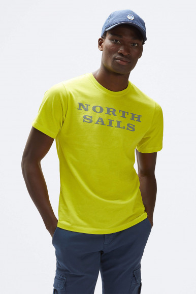 T-SHIRT NORTH SAILS W/GRAPHIC 2690 GIALLO FLUO