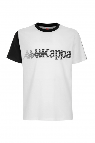 KAPPA T-SHIRT AUTHENT LA ECOZ BIANCO/NERO 3116DPW