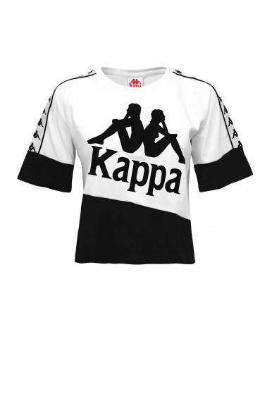 KAPPA T-SHIRT BANDA BALIMNOS BIANCO/NERO 304NQ10