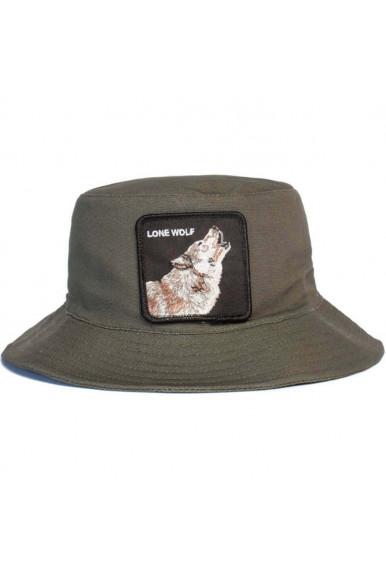 GOORIN BROS LONE WOLF GREEN BUCKET HAT