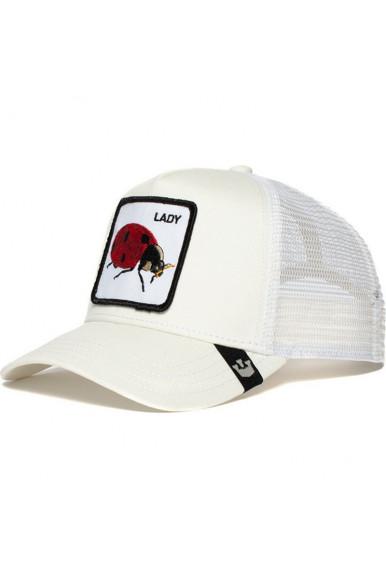 GOORIN BROS LADYBUG WHITE TRUCKER HAT