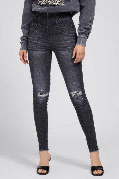 GUESS JEANS NERO DONNA KAT SKINNY