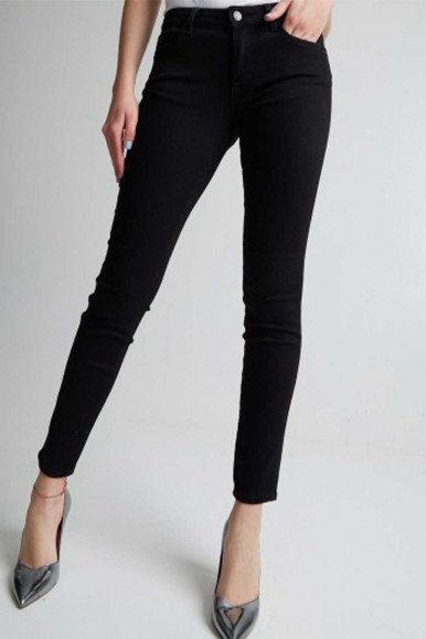 GUESS JEANS NERO DONNA CURVE X CRB1