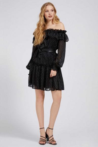 GUESS BLACK WOMAN DRESS ALESSIA
