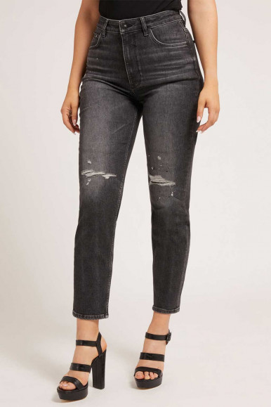 GUESS JEANS NERO DONNA MOM JEAN R2G0