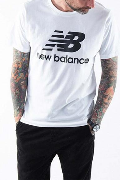N BALANCE MAN WHITE T-SHIRT MT01575