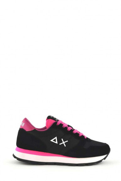 SUN 68 WOMAN BLACK-FUXIA SHOES ALLY  SOLID