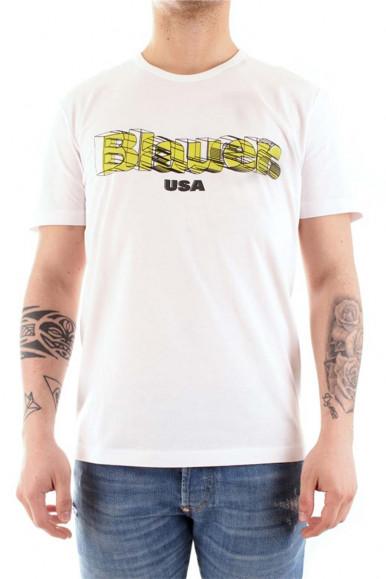 BLAUER T-SHIRT 3D BIANCA UOMO 2397