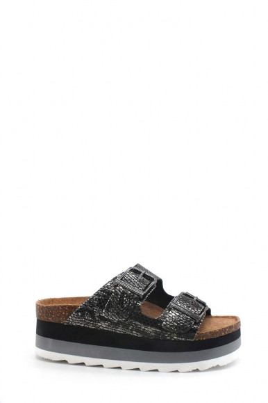 COLORS OF C. SLIPPERS BLACK BAND WOMAN