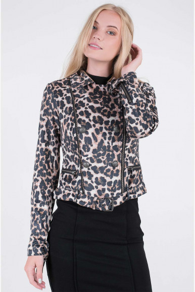 GUESS GIACCA DONNA LEOPARDATA TABATA JACKET