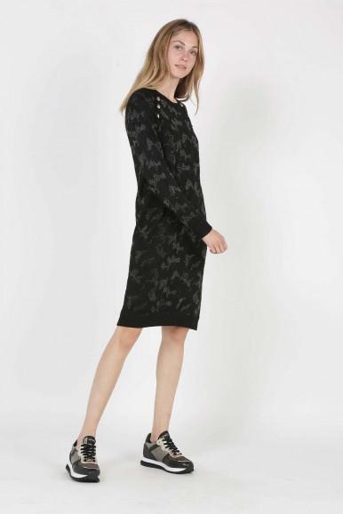LIU JO WOMAN BLACK-CAMOUFLAGE SHORT-DRESS CAMUFL 1202