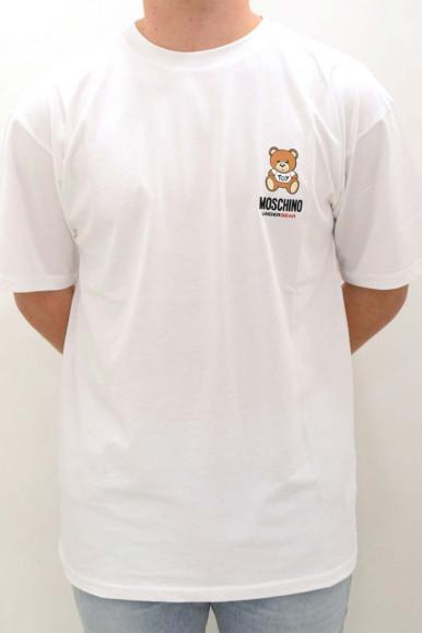 MOSCHINO MAN WHITE BEAR T-SHIRT A1923
