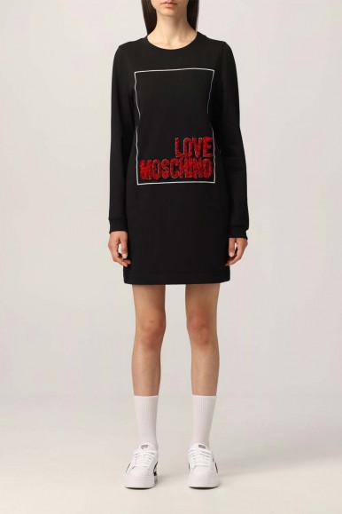 MOSCHINO WOMAN BLACK LONG SWEATER MINI DRESS 5847-18