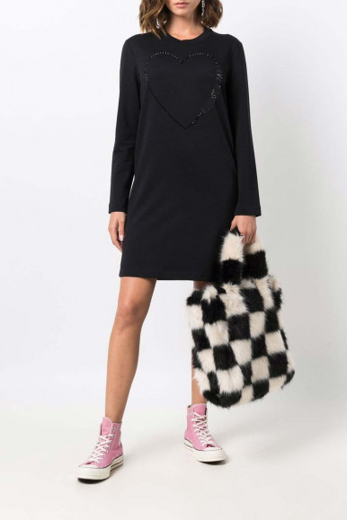 MOSCHINO WOMAN BLACK SHORT DRESS 5C34-01