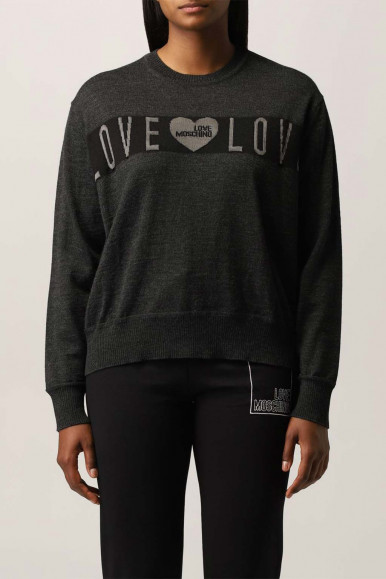 MOSCHINO WOMAN BLACK LOVE SHIRT S83G-10