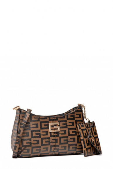 GUESS WOMAN BROWN SHOUDLER 40 TH ANNIVERSARY