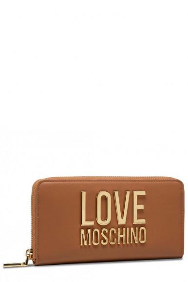 LOVE MOSCHINO PORTAFOGLIO DONNA CARAMELLO E DORATO  5611