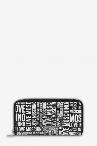 MOSCHINO MEN'S BLAK WALLET WITH LETTERING 5632