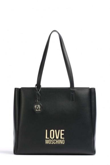 LOVE MOSCHINO WOMAN'S BLACK SHOULDER BAG 4100