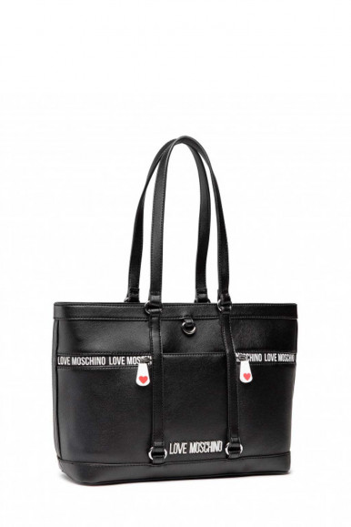 LOVE MOSCHINO WOMAN'S BLACK BAG 4148