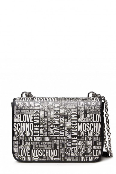LVOE MOSCHINO WOMAN'S BLACK SHOULDER WITH LETTERING 4154