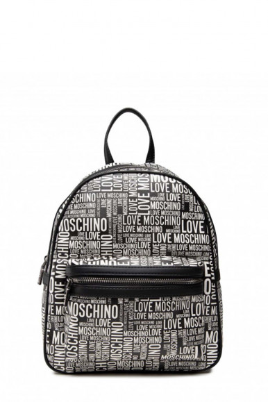 LOVE MOSCHINO WOMEN'S BLACK BAG WITH WHITE LETTERING 4157