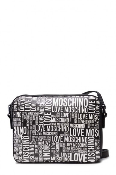 LOVE MOSCHINO WOMEN'S BLACK SHOUDLER WITH WHITE LETTERING 4160