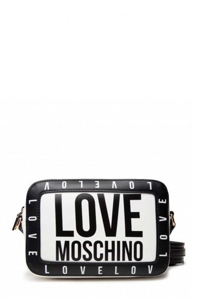 LOVE MOSCHINO TRACOLLA NERO- BIANCO DONNA 4182