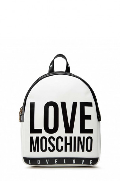 LOVE MOSCHINO WOMAN'S BLACK-WHITE BAG 4183