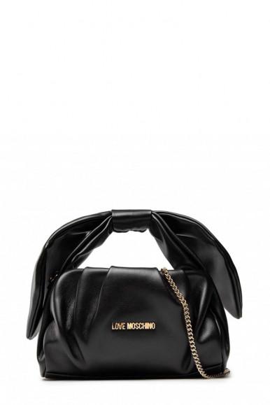 LOVE MOSCHINO WOMAN'S BLACK BAG BOW 4187