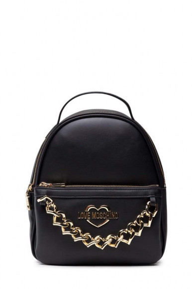 LOVE MOSCHINO WOMAN'S BLACK BAG WITH GOLDEN CHAINS 4194