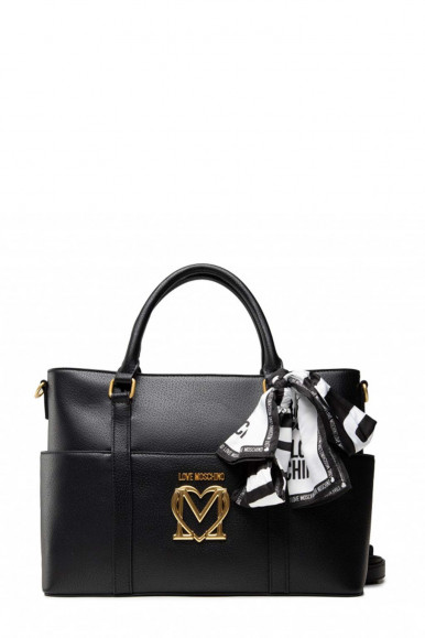 LOVE MOSHCINO WOMAN'S BLACK BAG 4213