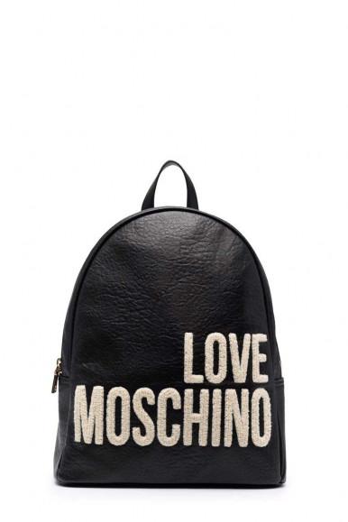 LOVE MOSCHINO WOMAN'S BLACK PLUSH BAG 4287