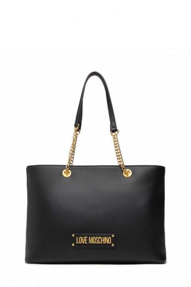LOVE MOSCHINO WOMAN'S BLACK SHOUDLER BAG  4307