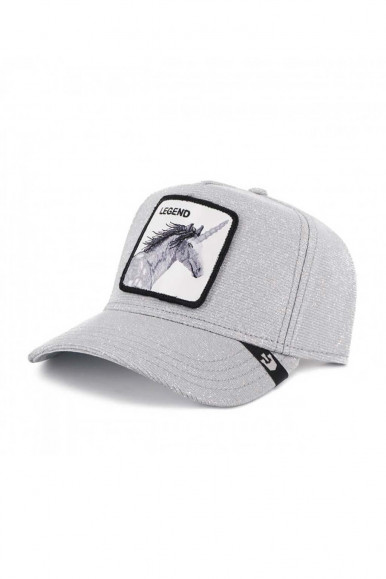 GOORIN BROS MAN'S GREY CAP WITH HORSE LEGEND