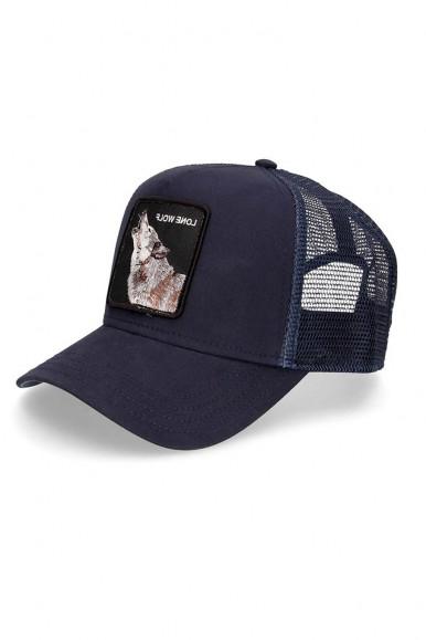 GOORIN BROS BLUE MAN'S CAP WITH LONE WOLF