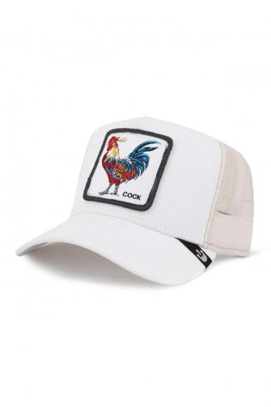 GOORIN BROS WHITE MAN'S CAP WITH COCK