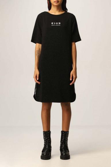 ARMANI EXCHANGE BLACK WOMAN'S HALF SLEEVE DRESS 6KYABR