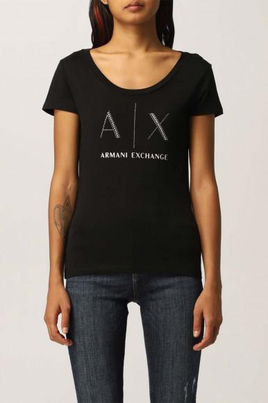ARMANI EXCHANGE T-SHIRT NERA A/X DONNA 8NYT83